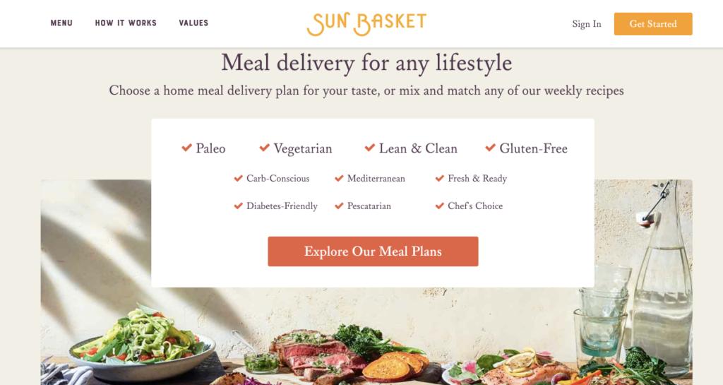 Sun Basket - company like Hellofresh