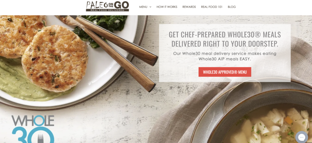 Frozen meals delivered by Paleo on the Go