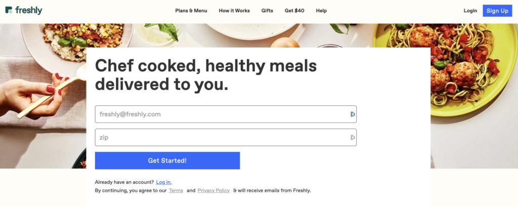healthy frozen meals delivered to your door is Freshly